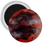 Bloody Gothic Demon Skull Moon Goth Art 3  Magnet
