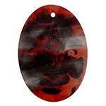 Bloody Gothic Demon Skull Moon Goth Art Ornament (Oval)