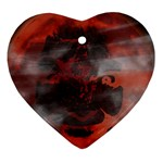Bloody Gothic Demon Skull Moon Goth Art Ornament (Heart)