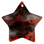Bloody Gothic Demon Skull Moon Goth Art Ornament (Star)