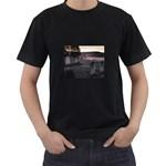 Gothic Old Graveyard Cemetary Goth Black T-Shirt