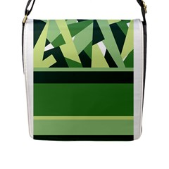 Abstract Jungle Green Brown Geometric Art Flap Messenger Bag (L)  from CircusValley Mall Front