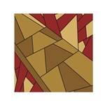 Urban Jungle Tower Brown Red Small Satin Scarf (Square)