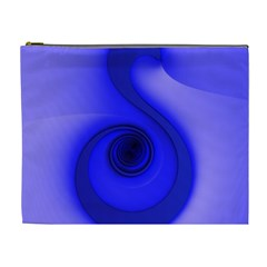 Blue Spiral Note Cosmetic Bag (xl) by CrypticFragmentsDesign