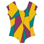 Bursting Star Poppy Yellow Violet Teal Purple Short Sleeve Leotard (Ladies)