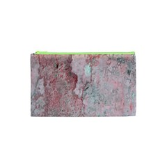 Coral Pink Abstract Background Texture Cosmetic Bag (xs) by CrypticFragmentsDesign