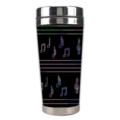 Music Pattern Stainless Steel Travel Tumblers by Valentinaart