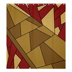 Modern Art Urban Jungle Tower Brown Red Shower Curtain 66  x 72  (Large)