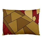 Modern Art Urban Jungle Tower Brown Red Pillow Case (Two Sides)