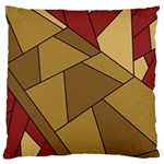 Modern Art Urban Jungle Tower Brown Red Large Cushion Case (Two Sides)