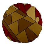 Modern Art Urban Jungle Tower Brown Red Large 18  Premium Round Cushions
