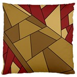 Modern Art Urban Jungle Tower Brown Red Large Flano Cushion Case (One Side)
