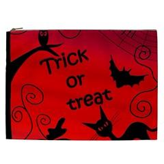 Trick Or Treat   Halloween Landscape Cosmetic Bag (xxl)  by Valentinaart