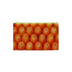 Orange Fruits Cosmetic Bag (xs) by AnjaniArt