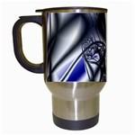 Black Lace Goth Punk Fractal Travel Mug (White)
