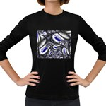 Black Lace Goth Punk Fractal Women s Long Sleeve Dark T-Shirt