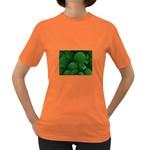 Green Fantasy Fish World Fractal Women s Dark T-Shirt