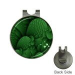 Green Fantasy Fish World Fractal Golf Ball Marker Hat Clip