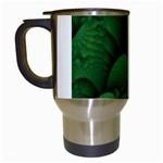 Green Fantasy Fish World Fractal Travel Mug (White)