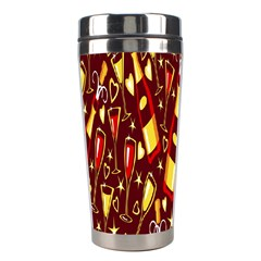 Wine Glass Drink Party Stainless Steel Travel Tumblers by AnjaniArt