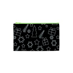 Simple Xmas Pattern Cosmetic Bag (xs) by Valentinaart
