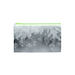 New Year Holiday Snowflakes Tree Branches Cosmetic Bag (xs) by Onesevenart
