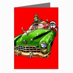 Corvette Santa Christmas Card Greeting Cards (Pkg of 8) from Saytoons Left