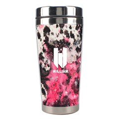 Water Color Splatters Seamless Pattern Stainless Steel Travel Tumbler by makeunique