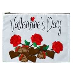 Valentine s Day Gift Cosmetic Bag (xxl)  by Valentinaart