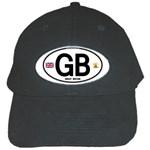 GB - Great Britain Euro Oval Black Cap