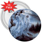 Three Women Vampires in White 3  Button (10 pack)