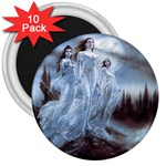 Three Women Vampires in White 3  Magnet (10 pack)