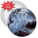 Three Women Vampires in White 3  Button (100 pack)