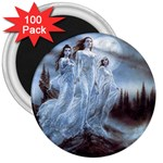 Three Women Vampires in White 3  Magnet (100 pack)