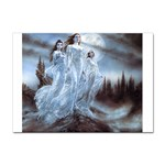 Three Women Vampires in White Sticker (A4)