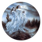 Three Women Vampires in White Magnet 5  (Round)