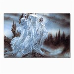 Three Women Vampires in White Postcard 4  x 6