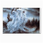 Three Women Vampires in White Postcard 5  x 7