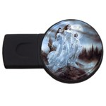 Three Women Vampires in White USB Flash Drive Round (1 GB)