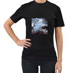 Three Women Vampires in White Women s Black T-Shirt