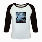 Three Women Vampires in White Kids Baseball Jersey