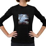 Three Women Vampires in White Women s Long Sleeve Dark T-Shirt
