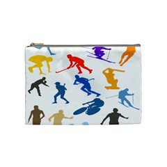 Sport Player Playing Cosmetic Bag (medium)  by Mariart