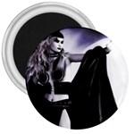 Dark Gothic Woman Magik Goth 3  Magnet