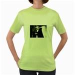 Dark Gothic Woman Magik Goth Women s Green T-Shirt
