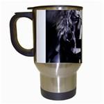 Dark Gothic Woman Magik Goth Travel Mug (White)