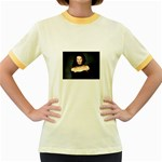Gothic Girl Black and Blue Women s Fitted Ringer T-Shirt