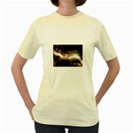 Goth Energy Explosion Fantasy Women s Yellow T-Shirt