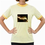 Goth Energy Explosion Fantasy Women s Fitted Ringer T-Shirt