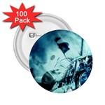 Dark Glass Explosion Goth Punk Fantasy 2.25  Button (100 pack)